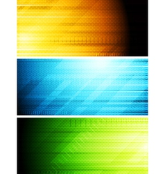 Bright technical banners vector