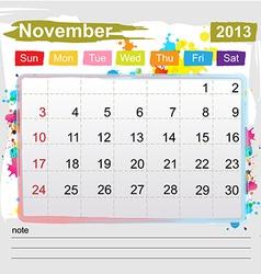 Calendar November 2013 vector
