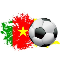 Cameroon Soccer Grunge vector image