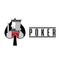 Casino spade king card poker game banner vector