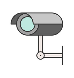 cctv camera police related icon outline design vector image