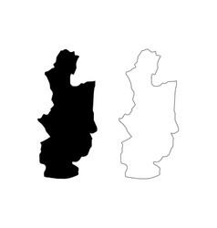 Central province sri lanka map vector