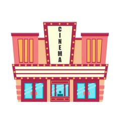 cinema isolated on white background vector image