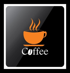 coffee cup design icon with black background vector image