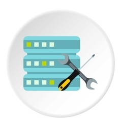Configuring cells for data storage icon vector