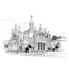 convent drawing vector image