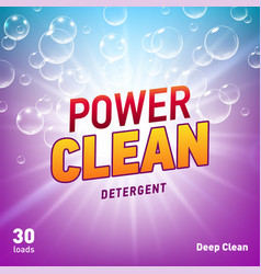 Creative laundry detergent concept packaging vector
