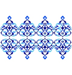 Designed with shades of blue ottoman pattern vector