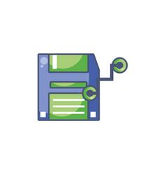 Digital diskette icon fill design vector