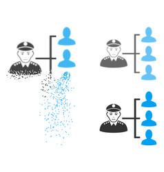 dissolving pixel halftone officer subordinates vector image