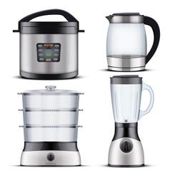 Domestic kitchen appliances vector