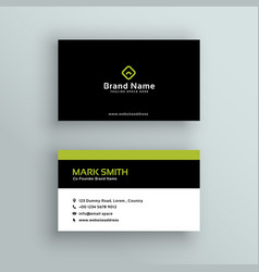 Elegant modern business card design vector