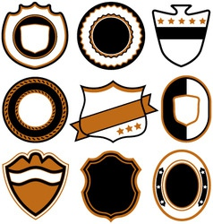 emblem badge template vector image