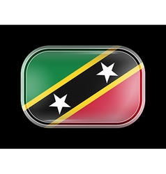 Flag of Saint Kitts and Nevis Rectangular Shape vector