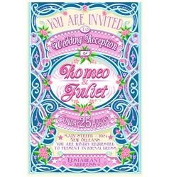 Floral Vintage Wedding Invite vector image