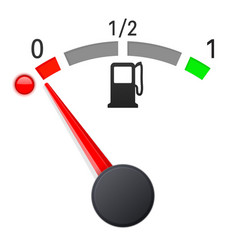 Fuel gauge scale empty tank vector