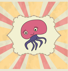 Funny and beautiful a jellyfish vector