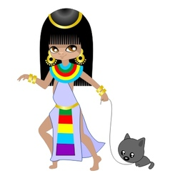 Girl egyptian vector