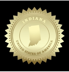 Gold star label Indiana vector