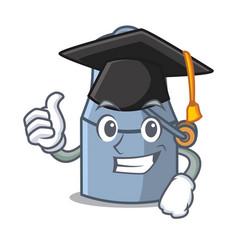 Graduation milk can character cartoon vector