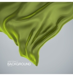 Green olive color silk fabric vector