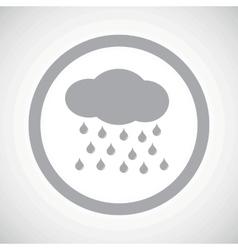 Grey rain sign icon vector