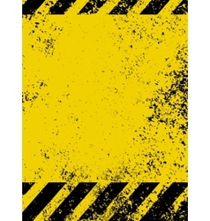 grungy caution vector image