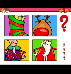 Guess xmas characters and objects game for vector