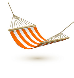 hammock template red and white striped hammock vector image