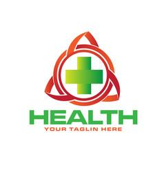 health trilogy logo designs vector image