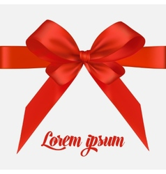 Holiday background with red bow and ribbon vector