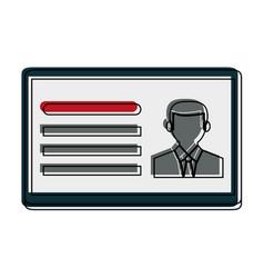 id card icon image vector image