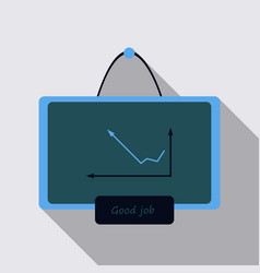 Interactive board drawn icon arrows digits line vector