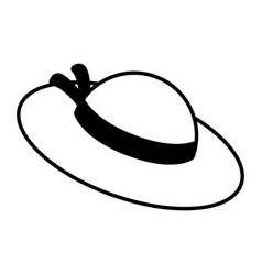 isolated girl summer hat icon vector image