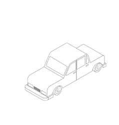 Isometric black and white car vector image