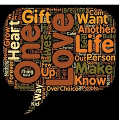 Just love me text background wordcloud concept vector