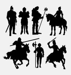 Knight male warrior silhouette vector
