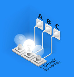 lamp plugged in isometric art vector image
