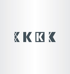 letter k set logo icon elements vector image