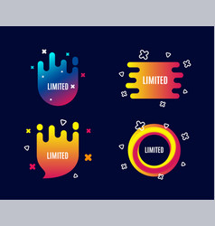 limited symbol special offer sign vector image