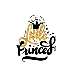 Little Princess Calligraphy gold paint similar vector
