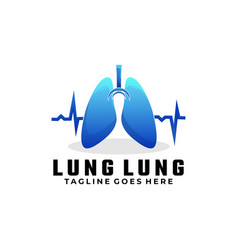 logo lungs gradient colorful style vector image