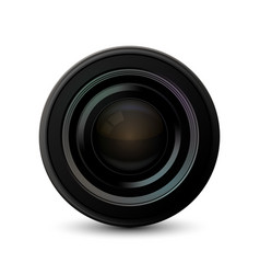 modern camera icon on white background vector image