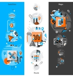 Navigation Banner Set vector image