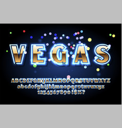 Neon sign lamp font vector