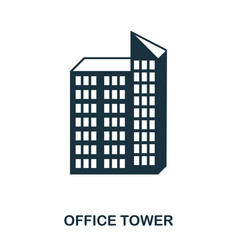 office tower icon line style icon design ui vector image