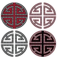 Oriental symbols wealth vector image