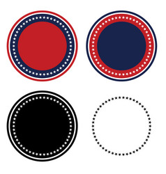 Patriotic 50 stars circle set vector
