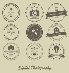 Photography Vintage Creative Logo Concept vector