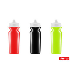 Plastic bottle for bicycle isolated on whit vector